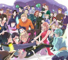 sasuke and hidden leaf village. Anime Naruto, Naruto Shippuden Sasuke, Hinata, Sasuke Sakura Sarada, Naruto Art, Naruto And Sasuke, Anime Manga, Naruhina, Shikatema
