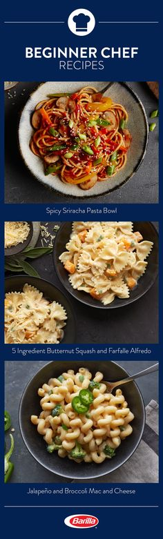 Even beginners can easily put together one of these amazing pasta dishes. Save these recipes and become a top chef in no time! Chef Recipes, Spicy Recipes, Cooker Recipes, Pasta Recipes, Italian Recipes, Mexican Food Recipes, Chicken Recipes, Dinner Recipes, Healthy Recipes