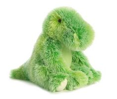 """Tee-Rex Fizzles by Aurora - 16679  Aurora World Fizzles animals are fashioned in high-pile multi colored plush that's easy to hug. Each features embroidered design details and lock-washer eyes for safety. 12"""" tall"""
