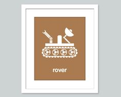 Space Theme Child Nursery Decor 8 x 10 Kids Wall Art Print - Mars rover - Outer Space Nursery Kids Room