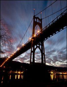 Mason's first area was St Johns....he drove across this bridge daily.  St John's bridge, Portland OR