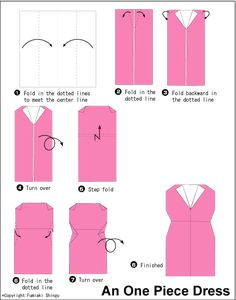 easy origami dress