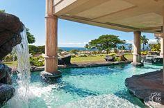 Pool and waterfall #hawaii