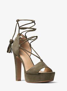 Michael Kors Rosalie Suede Lace-Up Platform Sandal