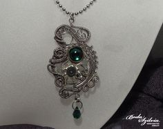 EMERALD - steampunk pendant by *bodaszilvia on deviantART