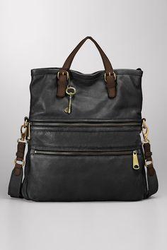 Fossil Explorer Tote Bag In Black -