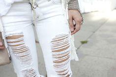 sick jeans and bracelet