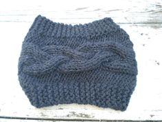 Opaska szeroka na drutach - Edyta-86 - Opaski na głowę