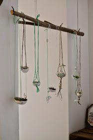 Hier findet ihr eine  DIY Anleitung zum Knüpfen eines Netzes mit Makramee. Zum Beispiel zum aufhängen von Töpfen, Hängegarten oder Blumenampel, Blumenampel knüpfen,
