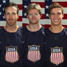 Team USA 2014 Olympic hopefuls Brooks Orpik, Paul Martin and Beau Bennett. #Pens #Padgram