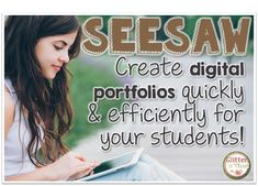 Okay, I am obsessed with this app called SeeSaw . It is a digital portfolio for your students that can be easily managed with an iPad, co. Teaching Technology, Technology Integration, Digital Technology, Educational Technology, Educational Activities, Seesaw App, Student Led Conferences, 21st Century Classroom, Student Portfolios