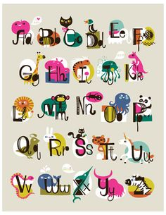 Adorable ABCs print by Helen Dardik