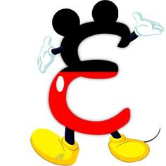 Original alphabet inspired by Mickey Mouse. Disney Letters, Mickey Mouse Letters, Mickey E Minnie Mouse, Fiesta Mickey Mouse, Mickey Mouse Design, Theme Mickey, Disney Alphabet, Mickey Party, Mickey Mouse Clubhouse