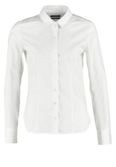 Hemdbluse - white Polo, Celebration, Casual Outfits, Shirt Dress, Black And White, Denim, City, Business, Mens Tops