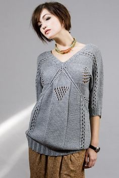 Slouch knit with intriguing details