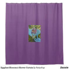 Eggplant Blossom 2 Shower Curtain