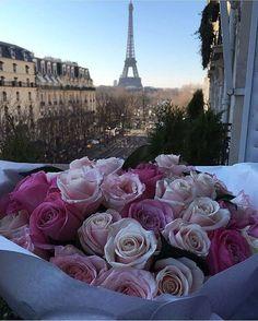 Image de paris, flowers, and rose