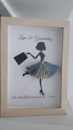diy birthday gifts for her Rahmen: Geldgeschenk Diy Birthday, Birthday Cards, Birthday Gifts, Craft Gifts, Diy Gifts, Don D'argent, Creative Money Gifts, Gift Money, Frame Crafts