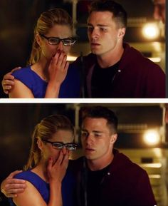 Arrow - Felicity and Roy #Season3 I hope she's not crying because Oliver. I hope this is her flashback episode and its something that comes up in the present with her family. I swear if oliver makes her cry...