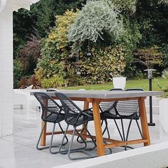 Contemporary Outdoor Furniture, Outdoor Furniture Sets, Outdoor Dining, Dining Table, Outdoor Decor, French Brands, Auckland, Designer Collection, Chair Design