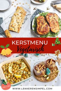 Vegetarische kerstrecepten - kerstmenu - Lekker en Simpel Hummus, Foodies, Vegetarian Recipes, Tacos, Mexican, Ethnic Recipes, Drinks, Christmas, Mushroom