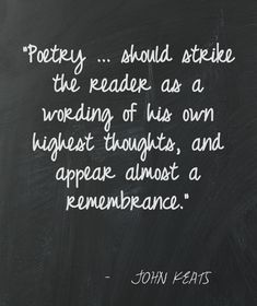 JOHN  KEATS / Hmm . . . what does it mean if I gravitate to Millay and Plath?