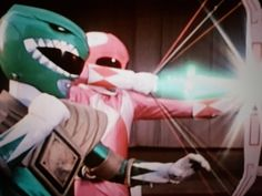 Tommy gives Kimberly his dragon dagger to use as a super arrow with her power bow to distory Lord Zedd's guitardo monster together they saved the day Love Linda Riggins Kimberly Power Rangers, Tommy Oliver Power Rangers, All Power Rangers, Mighty Morphin Power Rangers, Power Ragers, Jason David Frank, Lord Zedd, Kimberly Hart, Vr Troopers