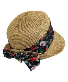 88dd40c7b7f Boardwalk Style Natural  amp  Floral Sash Straw Cloche by Boardwalk Style   zulily  zulilyfinds