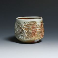 ceramic tea bowl with leaf texture. Jack Troy @Aimee Parsons-Hubley
