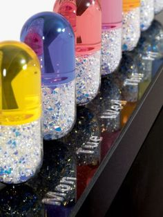 """""""By Prescription Only"""" (detail) resin, glass, swarovski, granite by #artist Mauro Perucchetti at #Gallery LeRoyer"""