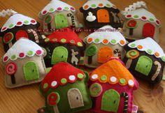 ♥♥♥ Casinhas... by sweetfelt \ ideias em feltro, via Flickr