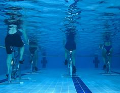 The newest take on indoor cycling: Aqua cycling! Find out why you should take the plunge and try pedaling in the pool: http://blog.womenshealthmag.com/scoop/the-newest-take-on-indoor-cycling/?cm_mmc=Pinterest-_-WomensHealth-_-content-scoop-_-aquacycling