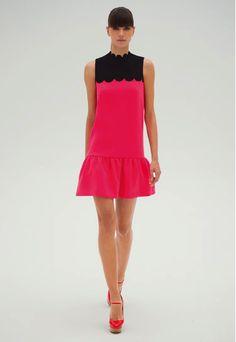 VB Scalloped Neck/Drop Waist Dress