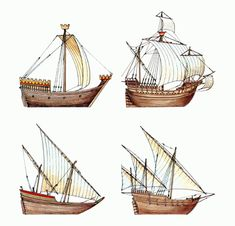 Evolution of the carrack and caravel from earlier ship designs