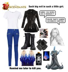 """""""Ally ~ Daughter of Hades ~ Decendants"""" by fandom-crazy ❤ liked on Polyvore featuring art"""