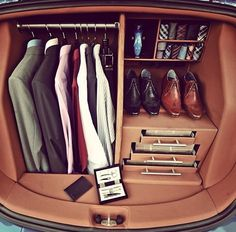 For the man on the go - trunk closet