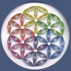 Quilled Flower of Life Mandala