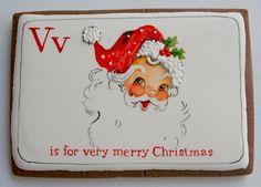 Arty McGoo: Wishing You a Very Merry Christmas! Santa cookie.