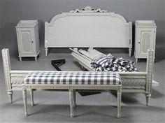 Vara: 4084791 Geromar, sängkammarmöblemang, gustaviansk stil (4)