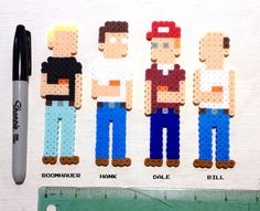 King of the Hill Retro Art. 8 bit Pixel Art. by ThePixelArtShop