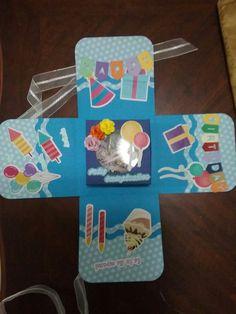 Caja explosiva con centro caja chocolates