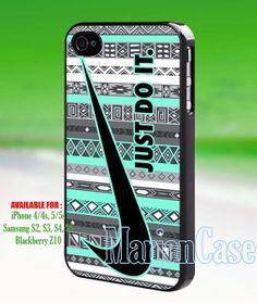 Nike Just do it aztec mint blackiPhone 4/4s/5 Case by marjancase, $15.00
