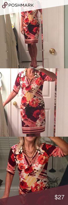 3efd51d424 Comfy slip-on dress in vibrant colors! Easy slip-on dress in vibrant