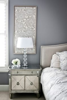 decorate above the nightstand