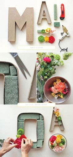 DIY flower letters- make your name!