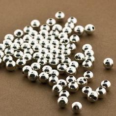 2mm Hole 5mm Gold Filled Large Hole Beads 14KT 10 pcs Round Seamless Beads