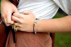 Soufeel brown Croatia leather Bracelet from Lovebeads2011, looks great on her:) So fashionable