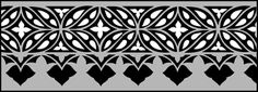 Gothic and Medieval Border No 18 stencils, stensils and stencles