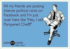 No seriously I really do sell pampered chef! Contact me today on how you can host a party!  www.pamperedchef.biz/cookingwithmeredith