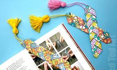 Paper Weaving Printable Bookmark